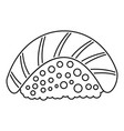 sake sushi icon outline style vector image vector image