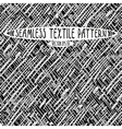 Seamless ink drawn textile pattern vector image vector image