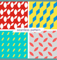 set of four seamless geometrical patterns 10 vector image