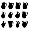 set of jugs vector image vector image