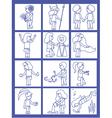 Set of twelve line art representing zodiac signs vector image