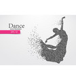 silhouette of a dancing girl from triangle dancer vector image vector image