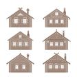 Slavic hut set vector image vector image