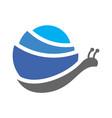 snail logo icon design vector image