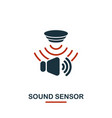 sound sensor icon from sensors icons collection vector image vector image