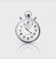 stopwatch in realistic style with reflection vector image vector image