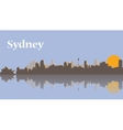 Sydney skyline at sunrise vector image vector image