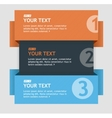 text boxes infographics options banner vector image vector image