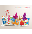 Thailand Landmarks Map vector image vector image