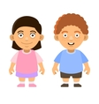 Two Carroon Style Cute Kids Boy and Girl on White vector image vector image