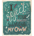 vitage hand drawn inspiration lettering quote i vector image
