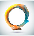 watercolor-ring-blue-yellow vector image vector image