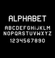 white of font and alphabet vector image vector image