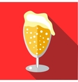 Wine goblet of beer icon flat style vector image