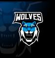 wolves mascot logo vector image