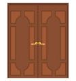 Double door vector image