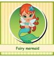 Fairy mermaid - cute girl closeup vector image