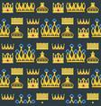 crown king vintage premium seamless pattern vector image