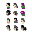 Hats transformer ways of dressing for boys and vector image