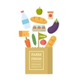 Package with fresh produce vector image