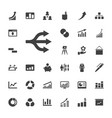 33 infographic icons vector image vector image