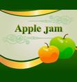 apple jam label design template vector image vector image