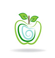 apple logo graphic icon vector image vector image