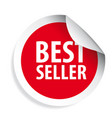 best seller label sticker vector image vector image