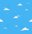 blue sky with clouds on shiny day seamless vector image vector image