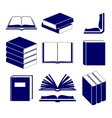 Book icons set vector image vector image