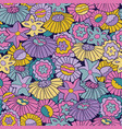 brights and pastel retro 60s floral repeat vector image vector image