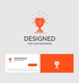 business logo template for award cup prize reward vector image