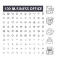 business office editable line icons 100 vector image vector image