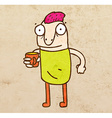 Cartoon Man with a Drink vector image vector image
