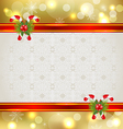 Christmas background with holiday decoration vector image vector image