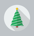 Christmas Tree Flat Icon vector image vector image