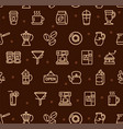 coffee house signs seamless pattern background on vector image