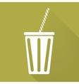 Cold drink web icon vector image vector image