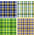 Collection of seamless plaid patterns vector image vector image