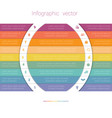 colorful strips and white semicircles for text 9 vector image vector image