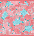 coral pink and blue repeat pattern with vector image vector image