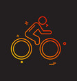 cycle icon design vector image vector image