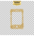 Gold glitter icon of smart phone isolated vector image