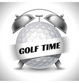 Golf time vector image vector image