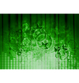 Green musical design vector image