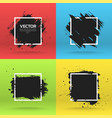 grunge backgrounds collection brush black paint vector image vector image