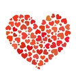heart made up hearts flat vector image vector image