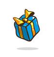 holiday birthday gift box with bow ribbon and vector image vector image