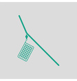 Icon of fishing feeder net vector image vector image
