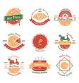 italian pizza emblems set vector image vector image